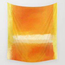 Mark Rothko Interpretation Orange On Orange Wall Tapestry