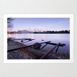 Lake Wakatipu - Queenstown - New Zealand Art Print