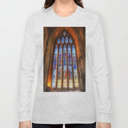 Bath Abbey Stained Glass Window Long Sleeve T-shirt