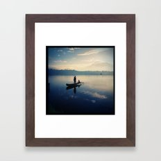 Sampaloc Lake Fishing Framed Art Print