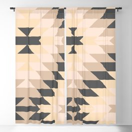 San Pedro in Grey and Tan Blackout Curtain
