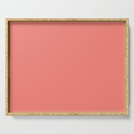 Coral Pink Solid Color Serving Tray