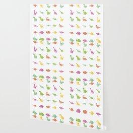 CUTE DINOSAURS PATTERN Wallpaper
