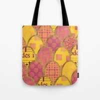 scales Tote Bags featuring Scales by Sweet Colors Gallery