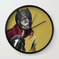 batgirl Wall Clocks featuring BATGIRL by corverez