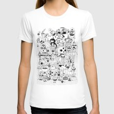 US AND THEM  Womens Fitted Tee LARGE White