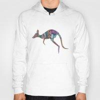 kangaroo Hoodies featuring kangaroo by Annie Liu