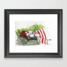 Fox Head Stew - Dee Framed Art Print