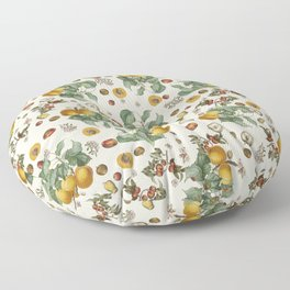 Apples Pears Peaches Floor Pillow