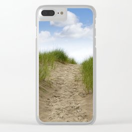 Trail over the Dune to the Summer Beach Clear iPhone Case
