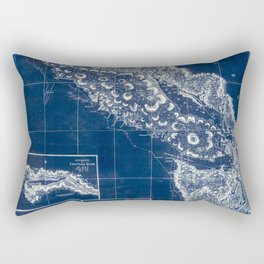 Vintage Blueprint of PNW Rectangular Pillow