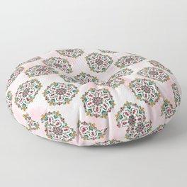 Botanical Mandala Floor Pillow