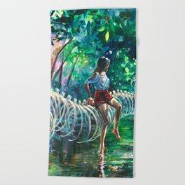 Dopamine Jungle Beach Towel