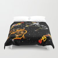 astrology Duvet Covers featuring Sagittarius Astrology Sign by TrinityHawk Photography & Multimedia