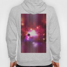 An outer space theme with planets, sky and stars.  Hoody