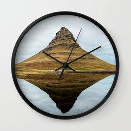 Mountain reflect Wall Clock