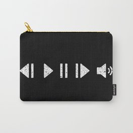 White Music Controls Carry-All Pouch