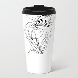 Lillies - Ink Serie Metal Travel Mug