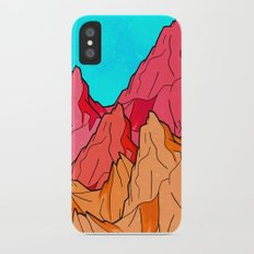 The Red and Orange Mounts Slim Case iPhone X