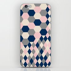 Honeycomb Blush and Grey iPhone Skin