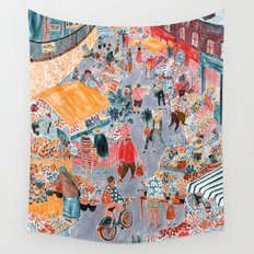 Columbia Road Flower Market Wall Tapestry
