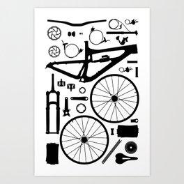 BIKE PARTS - NOMAD Art Print