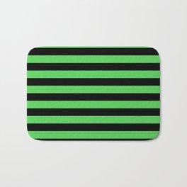 Stripes (Black & Green Pattern) Bath Mat
