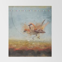 Kathmandu Cinnamon Sparrows Throw Blanket