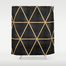 Black n' Gold Triangles Shower Curtain