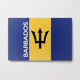 Barbados country flag name text Metal Print