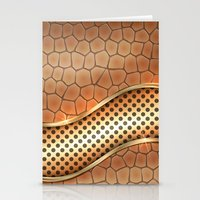anaconda Stationery Cards featuring Blingin Anaconda by Robin Curtiss