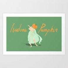 Isadora Pumpkin Art Print