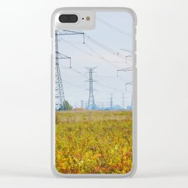 Landscape with power lines Clear iPhone Case