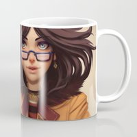 olivia joy Mugs featuring Olivia by Rafa ArSen