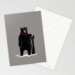 Bear on snowboard Stationery Cards