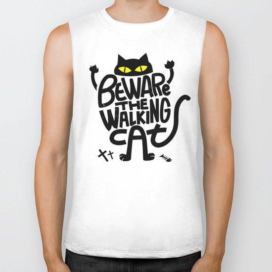 Beware the Walking Cat Biker Tank