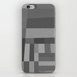 49th and Oak Black and White iPhone Skin