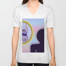 A vain person Unisex V-Neck