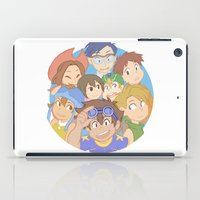 digimon iPad Cases featuring Chosen Children by wattleseeds