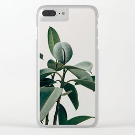 RUBBER TREE PLANT Clear iPhone Case