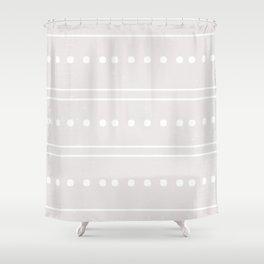 Minimal Geometric Stone Pattern Shower Curtain
