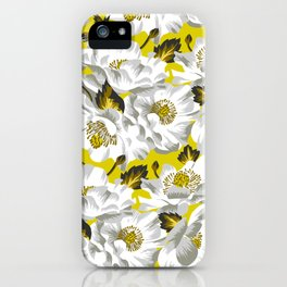 Mount Cook Lily - Yellow/White iPhone Case