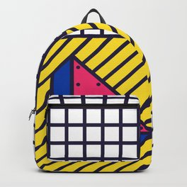Festive Background in Neo Memphis Style Colorful Decorative pattern Backpack