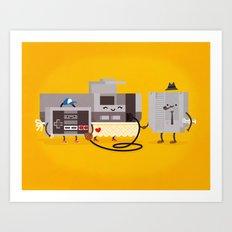 NES Family Art Print