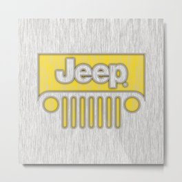 Jeep Style Chrome Metal Print