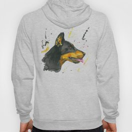 Doberman - Watercolor Painting Hoody