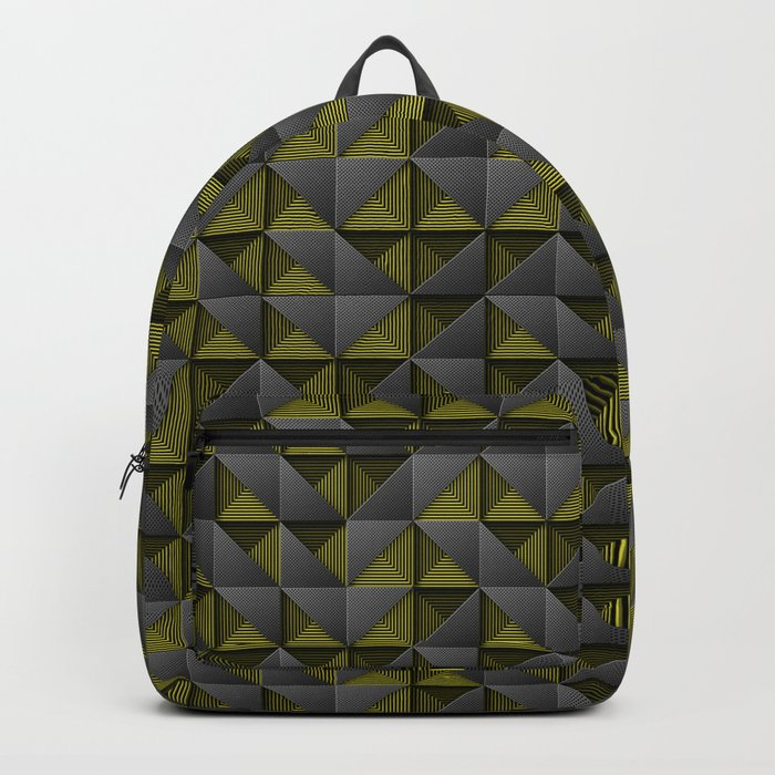 Tech Mosaic Yellow Backpack