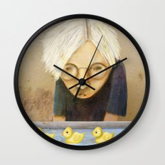 Watching the Ducks Wall Clock