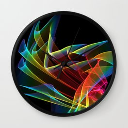 Dancing Northern Lights, Abstract Summer Sky Wall Clock