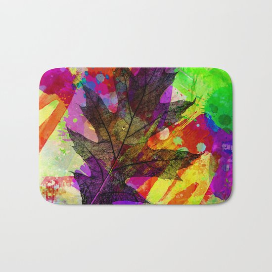 Splash leaf Bath Mat